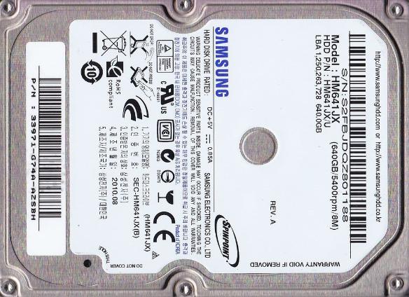 640GB SAMSUNG HDD USB 3.0 2,5 Portable. Nie rozkręca się – Odzyskiwanie danych